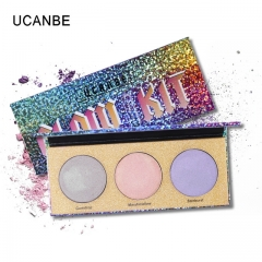 UCANBE Chameleon Crystal Sugar Eyeshadow Makeup Palette Highlighter Bronzer Glow Shimmer as picture
