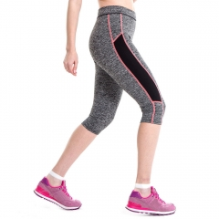 Stretch Cropped Leggings running 3/4 pants Jogging Trousers mallas mujer deportivas Sport Leggings pink s