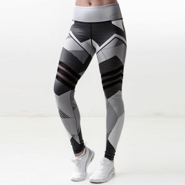 promotion en ligne à la vente les mieux notés dernier Women Sports Gym Yoga Workout Mid Waist Running Pants Fitness Elastic  Leggings jogging femme pant black s