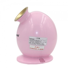 Hot steaming Facial Face Steamer Deep Pores Cleanser Mist Ion Sprayer Spa Skin Vaporizer Women Face pink