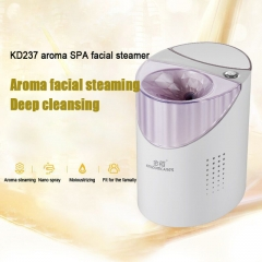 Deep Cleaning Facial Cleaner Steaming Herbal Vaporizer Aroma Steamer Aromatherapy Essential Oil white