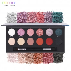 Docolor 12 Colors Eyeshadow Pallete Gorgeous Silky Powder Professional Nature Makeup  Eye Shadow as picture