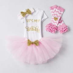 Princess Baby Fancy Wedding Dress Sleeveles Sequins Party Dress For Girl Summer Dresses and socks pink 1y