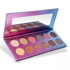 Eyeshadow Pallete DE'LANCI 12 Color Eyeshadow Pigment Glitter + Matte Long-lasting Eye Shadow Makeup as picture