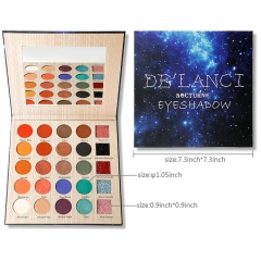Professional DE'LANCI 25 Color Makeup Eyeshadow Palette Long-lasting Eye Shadow Makeup Powder as picture