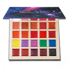 DE'LANCI Multishade lip palette Beauty Makeup 25 Colors Professional Matte Lipstick Palette Lipgloss as picture