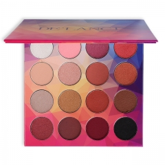 DE'LANCI 16Color Eyeshadow Pallete Matte Shimmer Eye Shadow Wet Powdered Naked Makeup Palette as picture