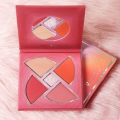 DE'LACNI Blush and highlighter Palette Face Makeup Cosmetics Kit Cheek Glow Kit Shimmer Bronzer as picture