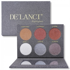 DE'LANCI  Highlighter Bronzer Glow Kit Face Makeup Eyeshadow Palette Beauty Cosmetics Palette as picture