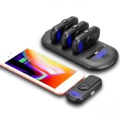 5 Charging Packs Powerbank Magnetic attraction Power Charger for iPhone Android Type C Moblie Phones black as picture