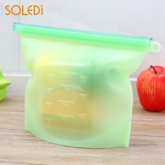 5PCS Sealed Food Packaging Zipper Pouches Vacuum Bag Useful Practical Clear Keep Fresh Refrigerator green 5pcs