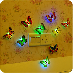 10PCS Simulation Butterfly Wall Paste Night Lights Home Decor For Kids Room Parlor  Night Light random 10pcs