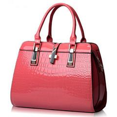 Designer Women's Genuine Leather Handbags Vintage Tassel Female Shoulder bag Ladies Crossbody Bags dark pink 31cm*23cm*12cm