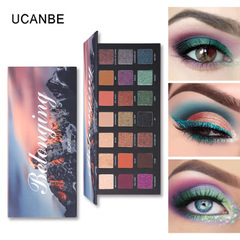 UCANBE Brand 21 Color Shimmer Matte Eyeshadow Palette Glitter Eye Shadow Powder Waterproof  Makeup as picture