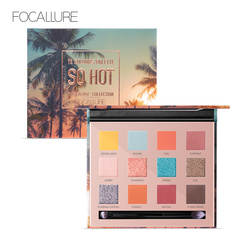 FOCALLURE Beautiful Color Pigment Smooth Soft Shimmer Glitter Eyeshadow Palette Match Your Eyes as picture