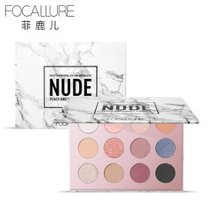 FOCALLURE12 Colors Matte Shimmer Glitter Easy to Wear Eye Shadow Palette Maquiagem Make Up 01