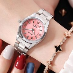 2018 Women Dial Reloj Mujer Concise Girl Wrist Watches Female Quartz Watches Ladies Watch pink