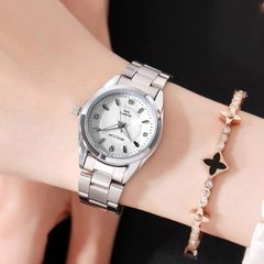 2018 Women Dial Reloj Mujer Concise Girl Wrist Watches Female Quartz Watches Ladies Watch white