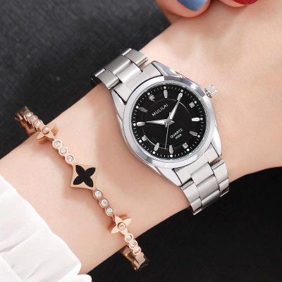2018 Women Dial Reloj Mujer Concise Girl Wrist Watches Female Quartz Watches Ladies Watch black