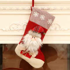 Christmas Stockings Santa Snowman Socks Kids Gift Bags Christmas Tree Hanging Ornaments Noel Navidad 01 one size