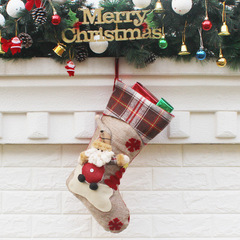Christmas Stockings Santa Snowman Socks Bags Christmas Tree Hanging Ornaments Noel Navidad Decor 01 one size
