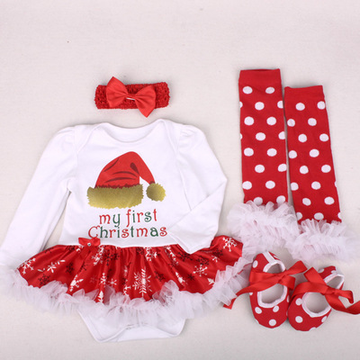 Christmas Outfits Summer Baby Clothes Toddler Girl Suits Baby Clothing Sets For Bebes Kids Wear sets 01 S (0-3M)