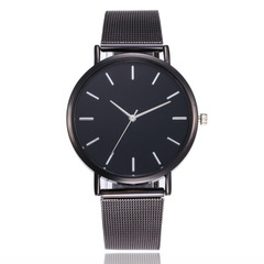 Mesh Stainless Steel Watches Women Top  Luxury Casual Clock Ladies Wrist Watch Relogio Feminino Gift black one size