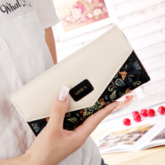 Wallet for women wallets purse dollar price printing designer purses card holder coin bag female black one size