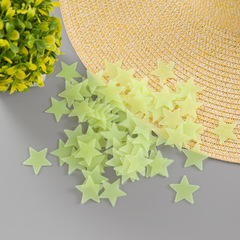 100pcs3D Stars Glow In The Dark Wall Stickers Luminous Fluorescent Wall Stickers For Kids Home Decor yellow 100pcs