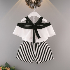Infant Baby Girl Summer Sweet Dress Ruffles Solid Backless Cross A-Line Knee-Length Overalls Dress white 90cm