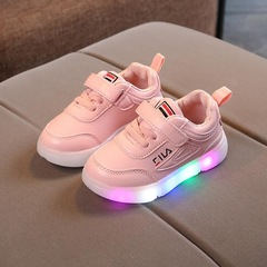 Children Led kids Shoes With Light baby Luminous Glowing Sneakers Baby Boys Girls Sports Shoes pink 21