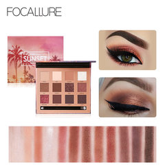 FOCALLURE 12-Colors Eyeshadow Palette Makeup with 1pc Eye Brush EyeShadow Matte Shimmer Makeup #01