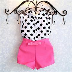 2019 Summer Casual Children Sets Flowers Blue T-shirt+ Pants Girls Clothing Sets Kids Summer Suit pink 100cm