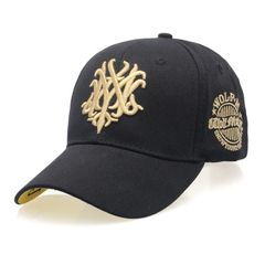 Fashion summer baseball cap Ms. sun hat letter autumn leisure hip-hop cap Golf men peaked cap black one size