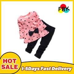 Hot autumn girls clothes sets T-shirt+ Pants 2pcs/set full sleeve clothing children active suits pink 110cm/4yrs