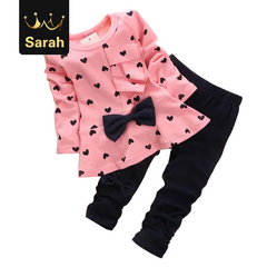 2021 New Year gift Hot autumn girls clothes sets T-shirt full sleeve clothing children active suits