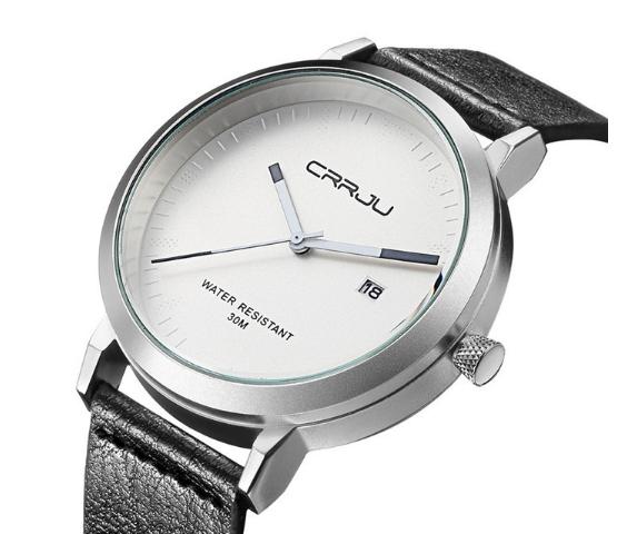 Men Wrist watches Fashion Luxury Quartz Watches Business Military Men Watches relogio masculino silver white one size