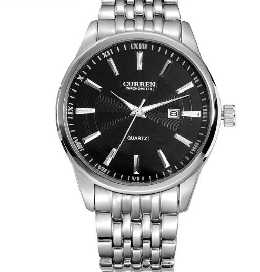 Watches Men Luxury Brand Business Casual Watch Quartz Watches relogio masculino silver black one size