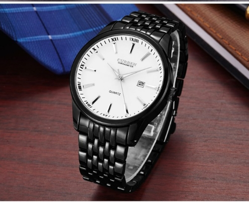 Watches Men Luxury Brand Business Casual Watch Quartz Watches relogio masculino black white one size