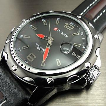 Watches Men Fashion Casual Quartz Hour Date Clock Leather Strap Man Sports Wristwatch Relogio black one size
