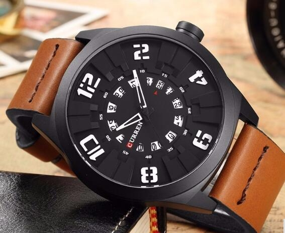 Military Sport Quartz watch Men Fashion Casual Army Top Brand Luxury Leather Quartz-Watch Male Clock white one size