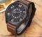 Military Sport Quartz watch Men Fashion Casual Army Top Brand Luxury Leather Quartz-Watch Male Clock beige one size