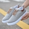 rComfortable Casual Shoes Mens Canvas Shoes For Men Lace-Up Brand Fashion Flat Loafers Shoe gray 44