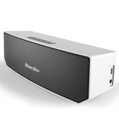 Bluedio BS-3 Original Mini Bluetooth Speaker Portable Dual Wireless Loudspeaker System silver 22*7.6*6.8