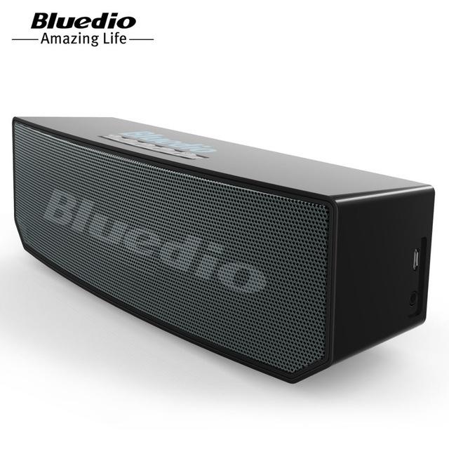 Bluedio BS-3 Original Mini Bluetooth Speaker Portable Dual Wireless Loudspeaker System balck 22*7.6*6.8