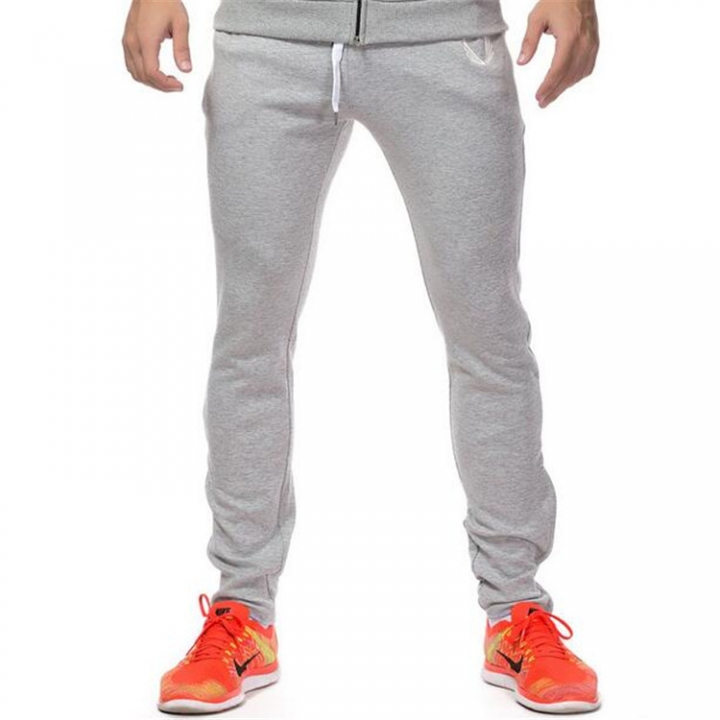 High Quality Jogger Pants Men Fitness Bodybuilding Gyms Pants For Runners Brand Clothing white xl