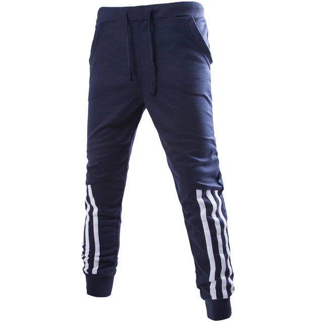 New Fashion clothing Mens Pants Comfortable Sweatpants Pants Men Sportsman Wear Trousers navy m