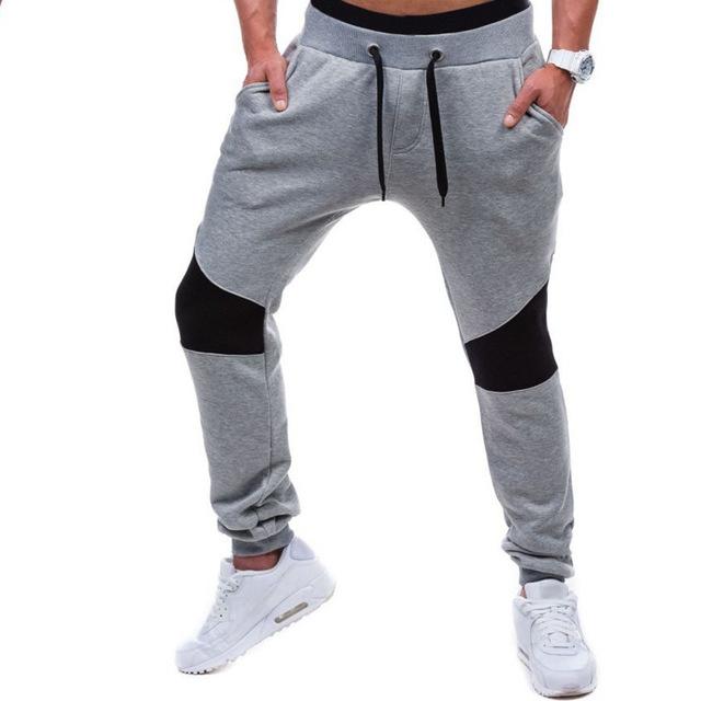 Fashion Mens Autumn Winter Cotton Joggers Dance Trouser Casual Slim Fit Long Stylish Pants gray l