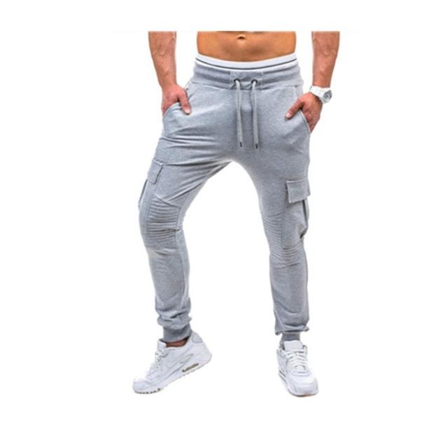 Newest Pants men Gyms Clothing Men Joggers Pantalon Homme Gyms Professional Bodybuilding Sweatpant gray l