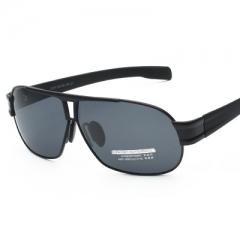 Men's fashionable sunglasses  definition of the coating polarizing square full frame driving glasses black box grey internal coating